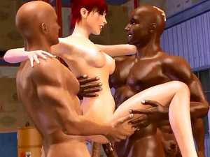 Three Workers Fuck Babe In Stock In The Eyes Of Her Husband Horny 3D Anime Sex Archive